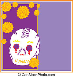 Day of the Dead - is an illustration to which you can add...