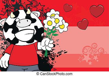 cow kid cartoon background6
