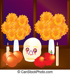 Day of the Dead 2 - is alustration of the Day of the Dead in...