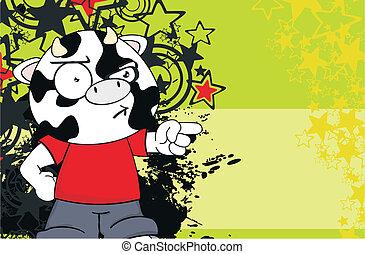 cow kid cartoon background11