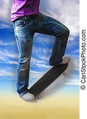 Sky Skateboarder