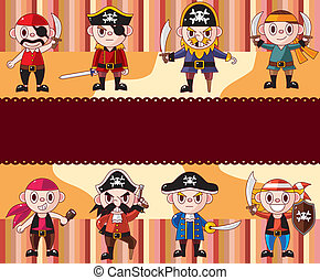cartoon pirate card