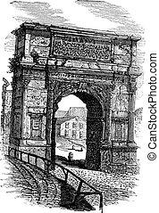 Arch of Titus on Via Sacra Rome Italy vintage engraving