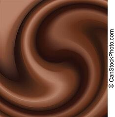 chocolate swirl - vector chocolate swirl