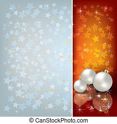 greeting with Christmas decorations