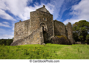 Dunstaffnage Castle on the north west coast of Scotland near...