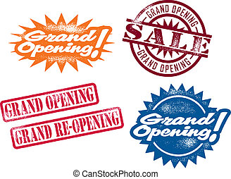 Grand Opening Stamps - A selection of stamps for a business...