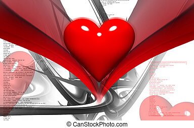 Love symbol - Digital illustration of love symbol in colour...