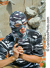 Policeman in mask 4