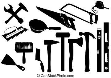 Hands tools isolated on white