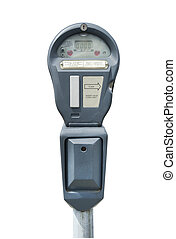 Parking meter on white, isolated with clipping path