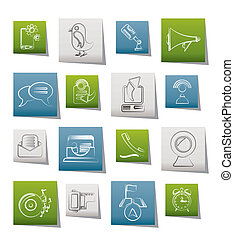 Mobile Phone and communication icon - Mobile Phone and...