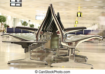 Waiting lounge in the airport