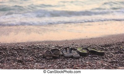 Sandals on the beach