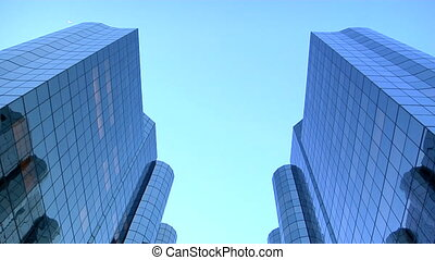 skyscrapers tilt down - This is a tilt down to two...