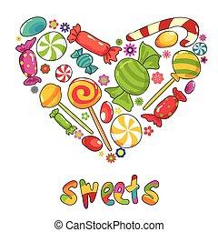słodycze, serce
