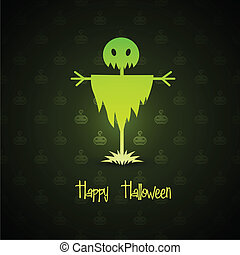scarecrow for halloween on background