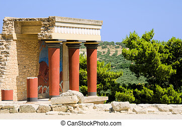The palace of Knossos in Creta