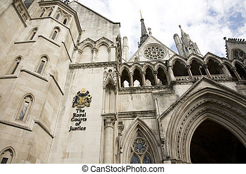 Royal Courts of Justice - Outside view of Royal Courts of...