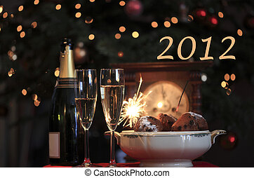 2012 - Happy new year 2012 New year design of a typical new...