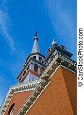 藍色, 天空, 教堂