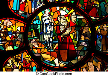 Stained glass windows - detail of the stained glass windows...