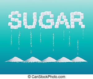 sugar design - an illustration of sugar cubes forming the...