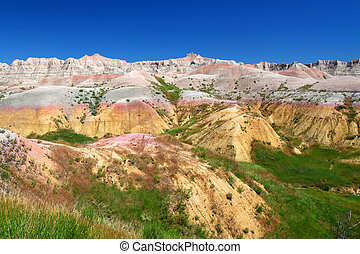 Badlands National Park - USA - Beautifully colored mountains...