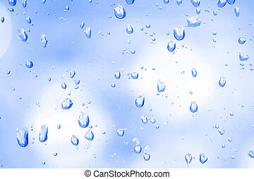 Water drops on the glass, background