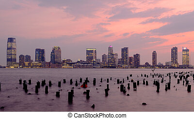 New Jersey - skyline of Exchange Place, New Jersey from...