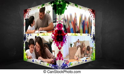 3D Animation-Cube of Familymembers - 3D Animation-Cube of...
