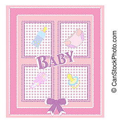 Vector card for baby shower