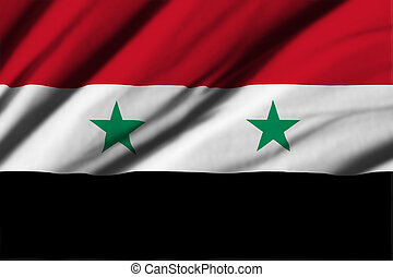 Syria - High detailed waving flag of different countries...