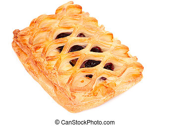 puff pie on a white background
