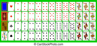 Cards playing. - Complete set of playing cards.