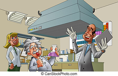 lab - some medical professionals in a lab room