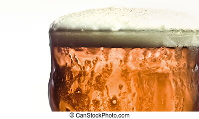 Pint of beer in slow-motion - Pint of beer filmed in...