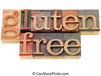gluten free text - gluten free diet concept - isolated words...