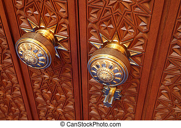 Door knob in the Grand Mosque, Muscat Oman