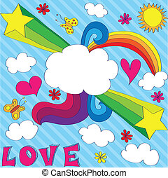 Love is in the air! - Hand drawn gay design with...