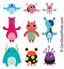 cartoon monster icons