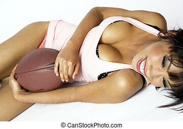 Pretty Foot Ball Player