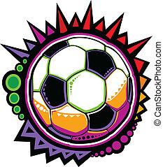 Soccer Ball Colorful Mosaic Vector