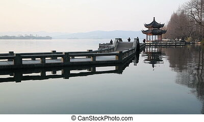 hangzhou - Landscape of the West Lake in Hangzhou City,...