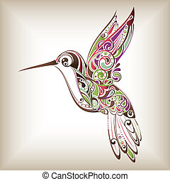 Hummingbird - Illustration of abstract hummingbird