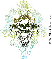 Trophy skull illustration - Textured and highly detailed...