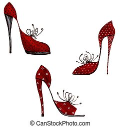 Shoes - decorative elements - Colorful graphic illustration