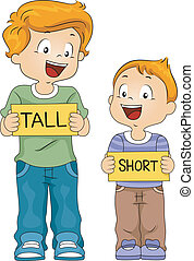 Kids Flashcards - Illustration of Kids Holding Flash Cards