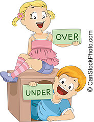 Flashcards - Illustration of Kids Holding Flashcards