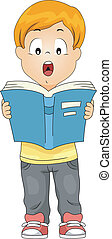 Oral Reading - Illustration of a Kid Reading a Book Out Loud